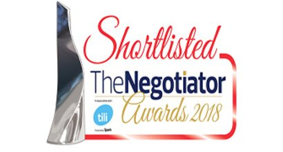 Shortlisted for The Negotiator Awards 2018 - Gibbs Gillespie